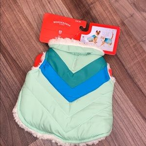 NWT x-small pet jacket- up to 10lbs